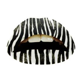 Zebra Lip Tattoo