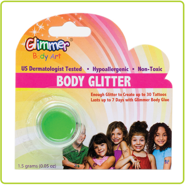 Body Glitter Neon Green by Glimmer Body Art