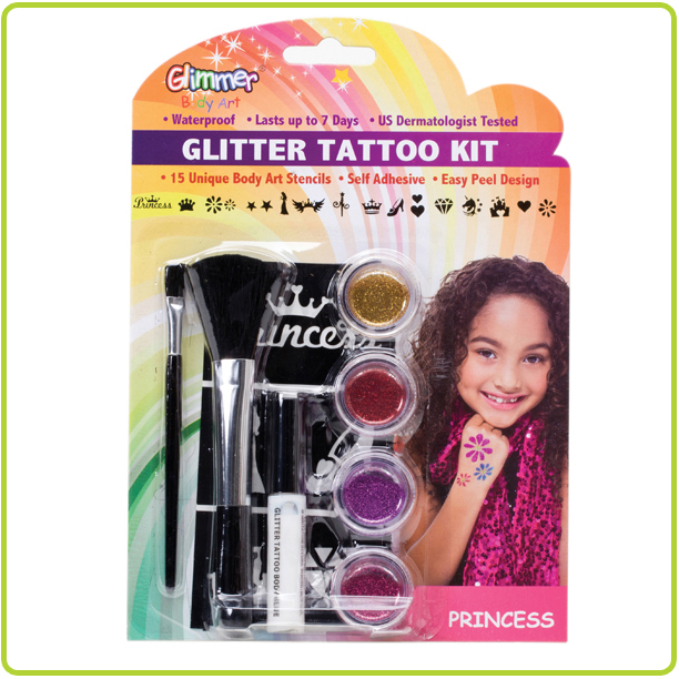 Glitter Tattoo Kit by Glimmer Body Art