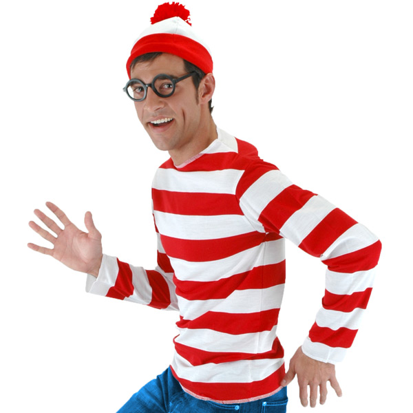 Where's Waldo includes shirt, hat and glasses