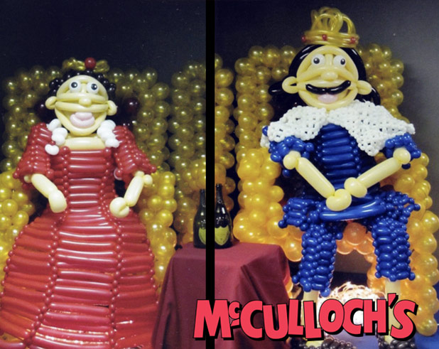 life sized Balloon Sculpture of people